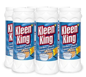 Kleen King Copper and Stainless Steel Cleaner Six 14 oz Cans