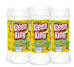 Lemon Kleen King for Stainless Steel and Copper Six 14 oz Cans