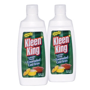 Liquid Kleen King Enameled Cast Iron Two 14 oz Bottles
