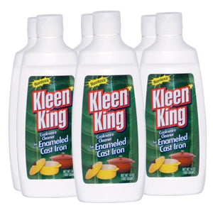 Liquid Kleen King Enameled Cast Iron Six 14 oz Bottles