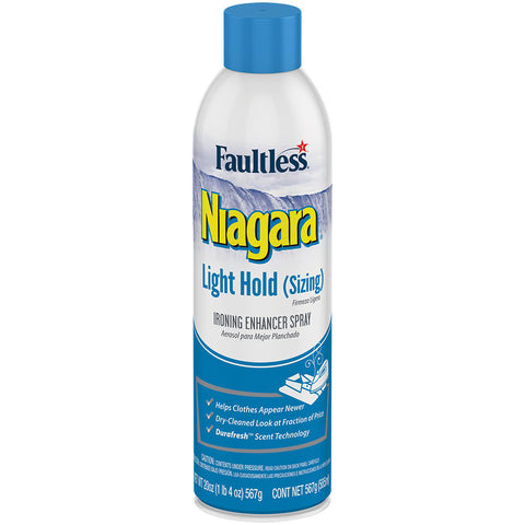 Faultless Niagara Light Hold (Sizing) Ironing Enhancer Spray Twelve 20 oz Cans