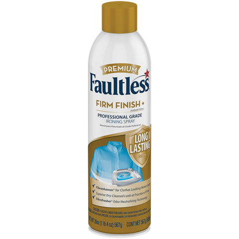 Faultless Premium Firm Finish+ Ironing Spray Three 20 oz Cans