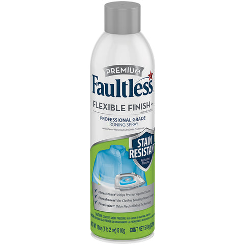 Faultless Premium Flexible Finish+ Stain Resistant Ironing Spray Three Pack