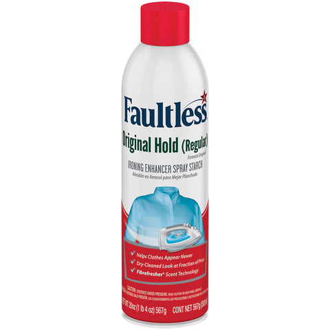 Faultless Original Hold (Regular) Ironing Enhancer Spray Starch Twelve 20 oz Cans