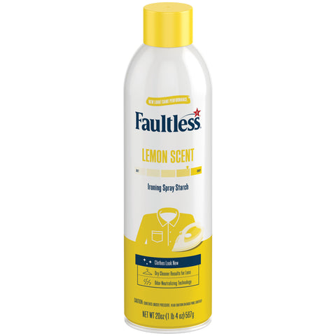 Faultless Ironing Enhancer Spray Starch Lemon