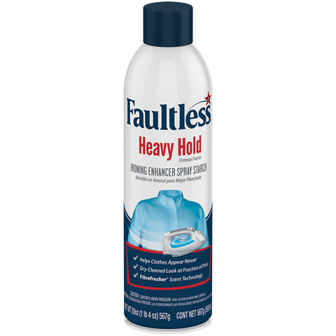 Faultless Heavy Hold Ironing Enhancer Spray Starch Six 20 oz Cans