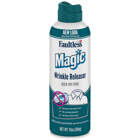 Faultless Magic Wrinkle Releaser Quick-Dry Spray Twelve 10 oz Cans