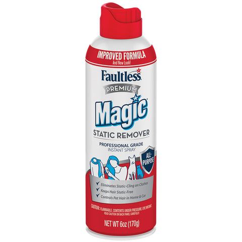 Faultless Premium Magic Static Remover Instant Spray Twelve 6 oz Cans