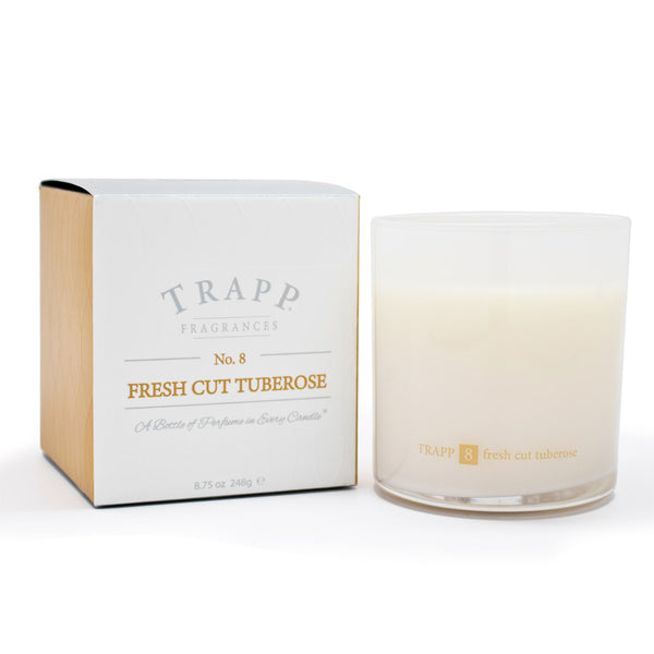 Ambiance Collection - No. 8 Fresh Cut Tuberose - 8.75oz. Poured Candle