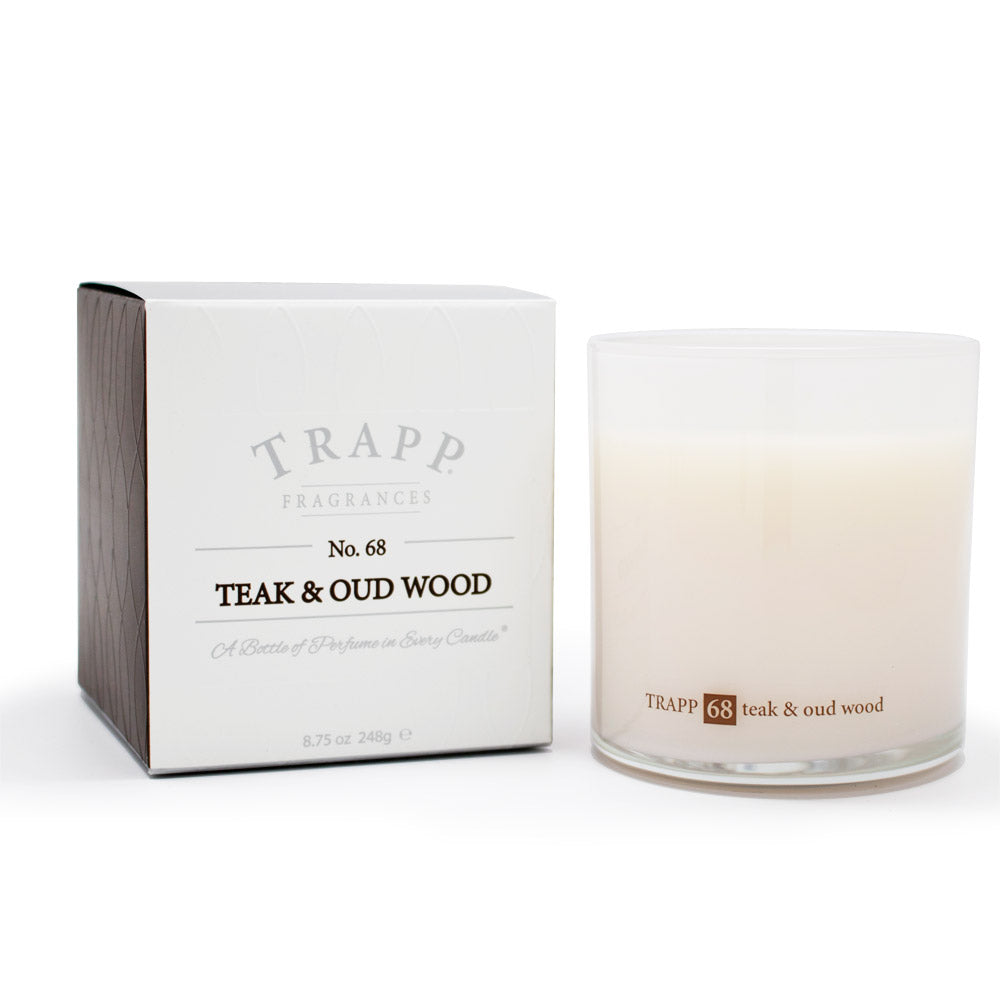 Ambiance Collection - No. 68 Teak and Oud Wood - 8.75oz. Poured Candle