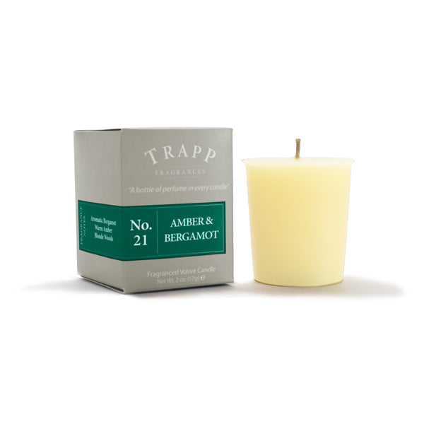 No. 21 Amber & Bergamot - 2oz. Votive Candle