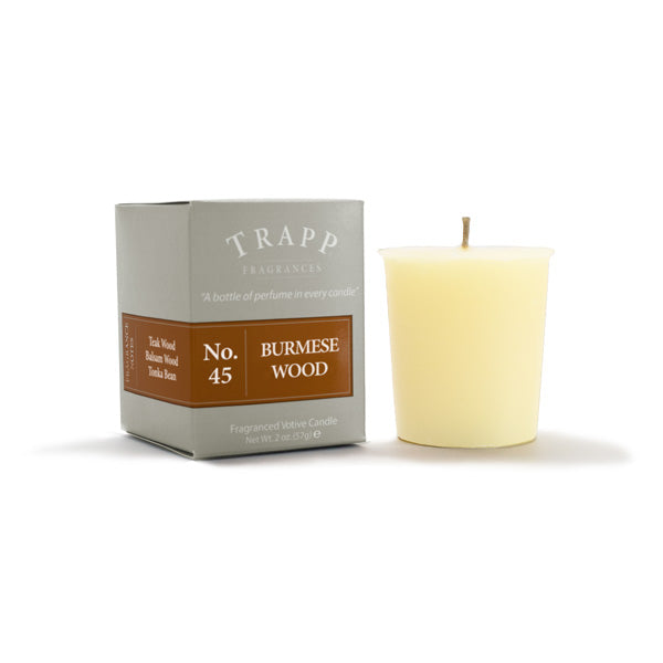 No. 45 Burmese Wood - 2oz. Votive Candle