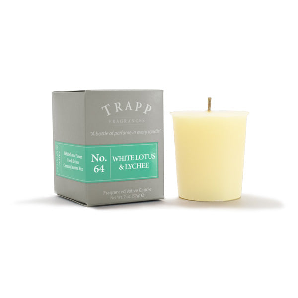 No. 64 White Lotus & Lychee - 2oz. Votive Candle