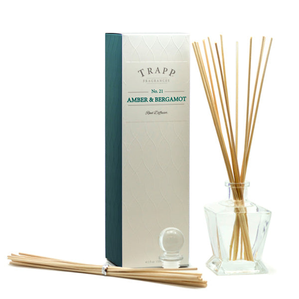 No. 21 Amber & Bergamot - Kit Diffuser 4.5oz.