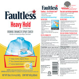 Faultless Heavy Hold Ironing Enhancer Spray Starch Lemon Splash