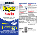 Faultless Niagara Heavy Hold Ironing Enhancer Spray Starch Lemon Splash