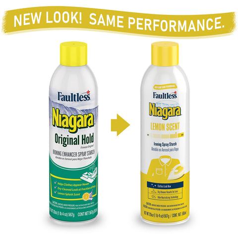 Faultless Niagara Original Hold Ironing Enhancer Spray Starch Lemon Splash