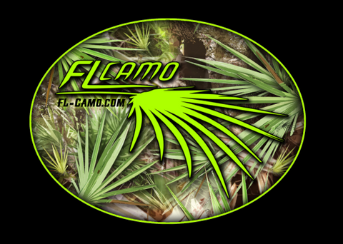 FL Camo Oval Sticker - Matte finish