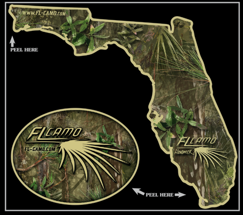 Small State of Florida - Hammock 3in die-cut  (Combo Pack)
