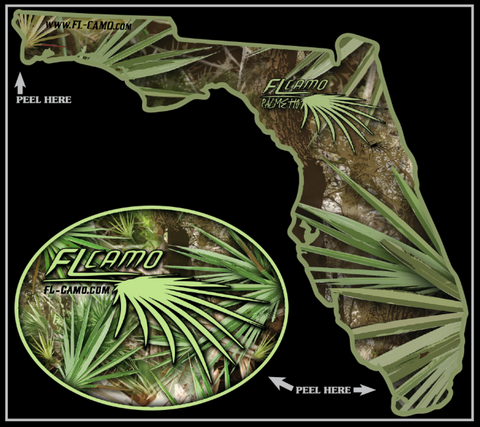 Small State of Florida - Palmetto 3in die cut  (Combo Pack)