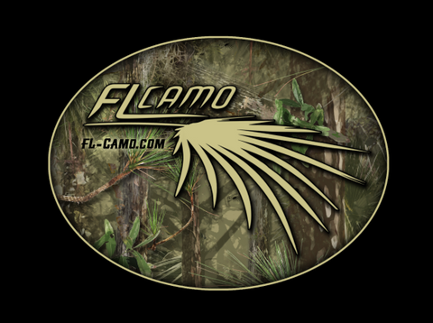 FL Camo Hammock Oval Sticker - Matte finish