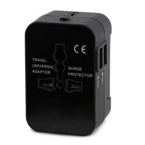 🌐 Worldwide Travel Adapter 150+ Countries International + 2 USB