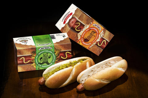 All-in-One Kosher Beef Hot Dog in a Box. Convenient, Pre-Packaged and Ready to Heat & Eat!