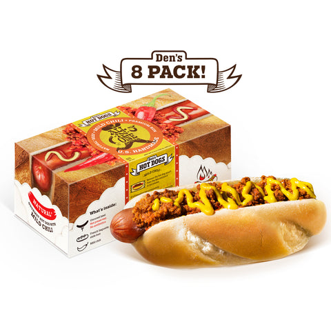 Den's Natural All-in-One Hot Dog with Chili