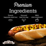Den's Natural All-in-One Hot Dog w/Mild Chili (pack of 8). Free Shipping.