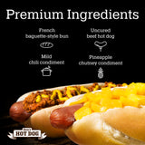 Den's Natural All-in-One Hot Dog w/Chili and w/Pineapple (16 total, mix of 8 each). FREE S&H