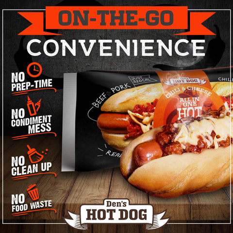 Den's Original All-in-One Hot Dog with Chili & Cheese (16 pack)