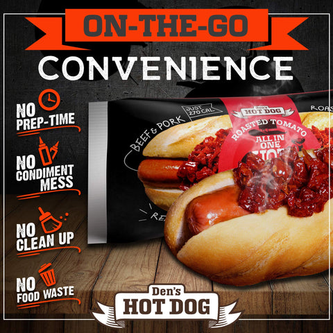 Den's All-in-One Hot Dog with Ketchup (8 pack)