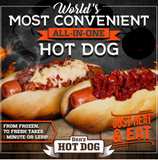 Den's Original All-in-One Hot Dogs with Chili & Cheese and Roasted Tomato (16 mixed pack of 8 each)