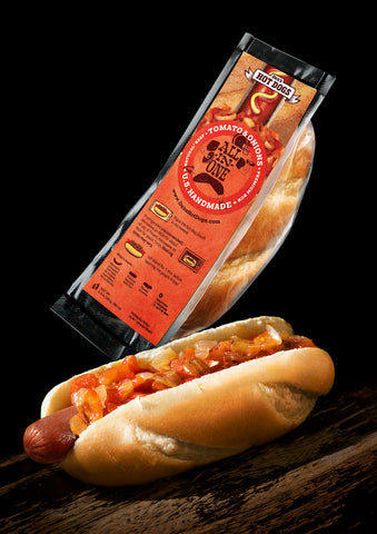 E-Den's Natural All-in-One Hot Dog w/Tomato & Onions (pack of 10).  $3.75/hotdog. Free Shipping.