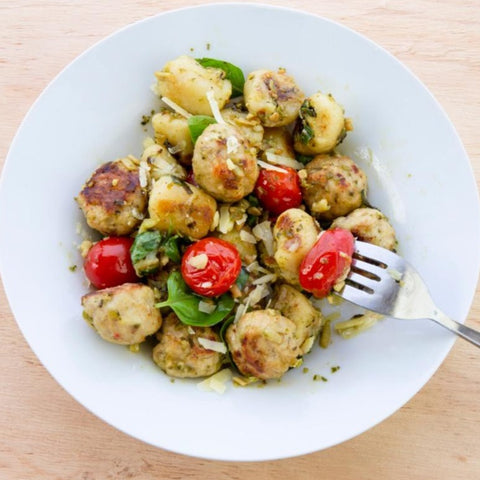 Chicken Sausage with Dumplings, Parmesan Cheese & Vegetables - 1 pack