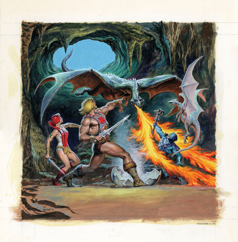 Masters of the Universe Art Print - Secret of the Dragons Egg by Earl Norem