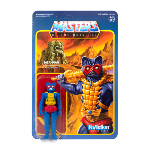 Master of the Universe ReAction Figure - Mer-Man (Carry Case Color)