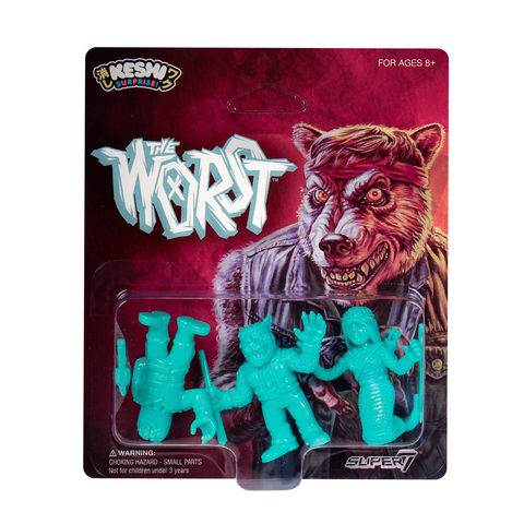 The Worst Keshi Pack B - Shedusa, Werewolf Biker, Cortex Commander (Teal)