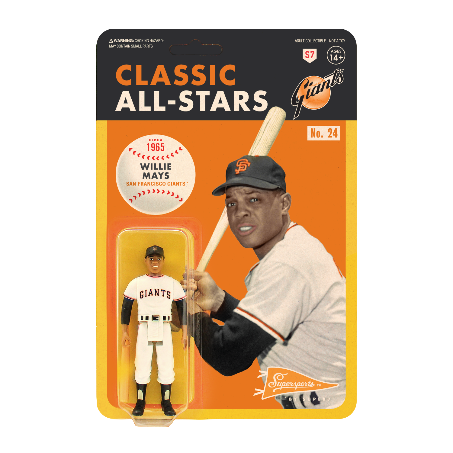 Mlb Classic Reaction Figure Willie Mays San Francisco Giants