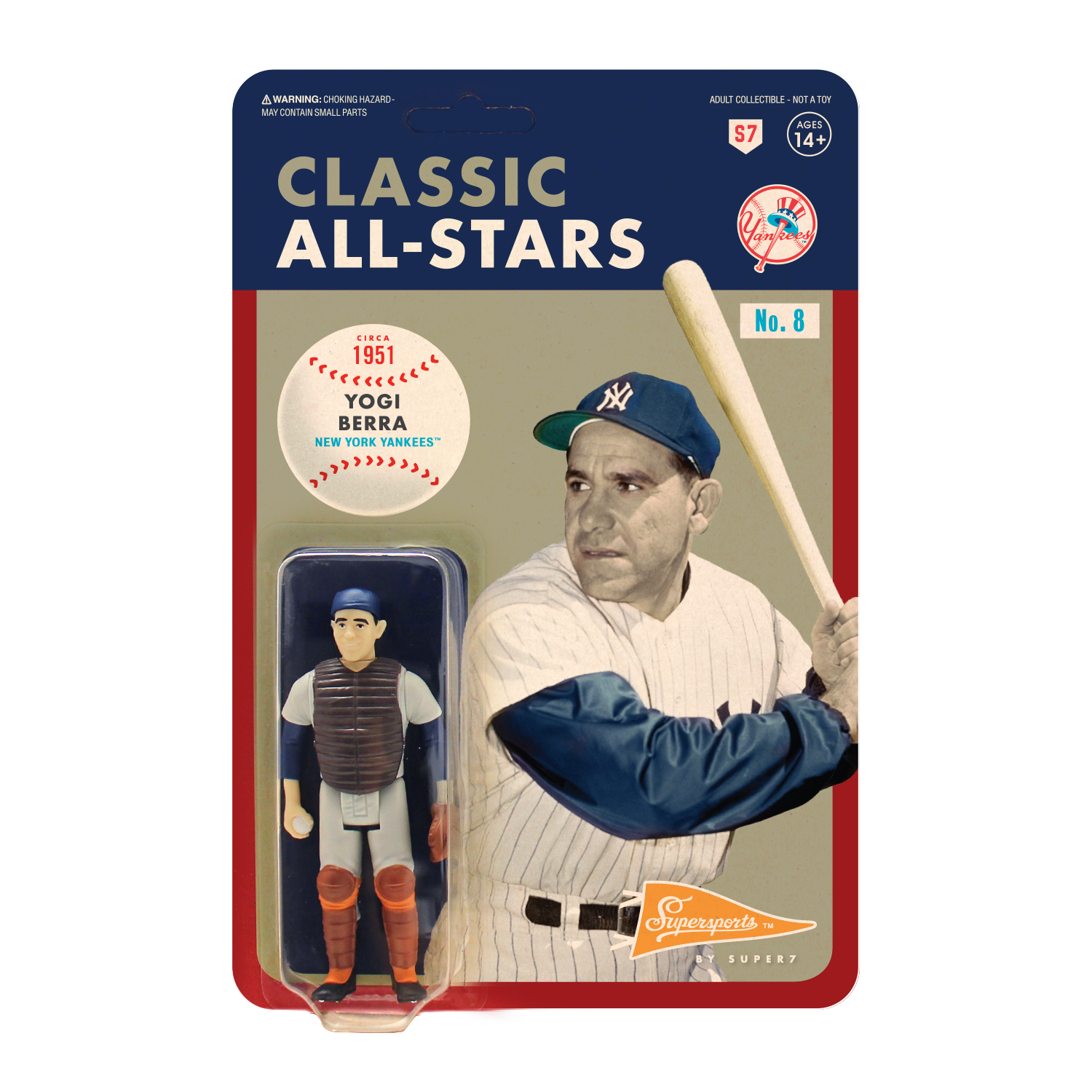 Mlb Classic Reaction Figure Yogi Berra Catcher New York Yankees