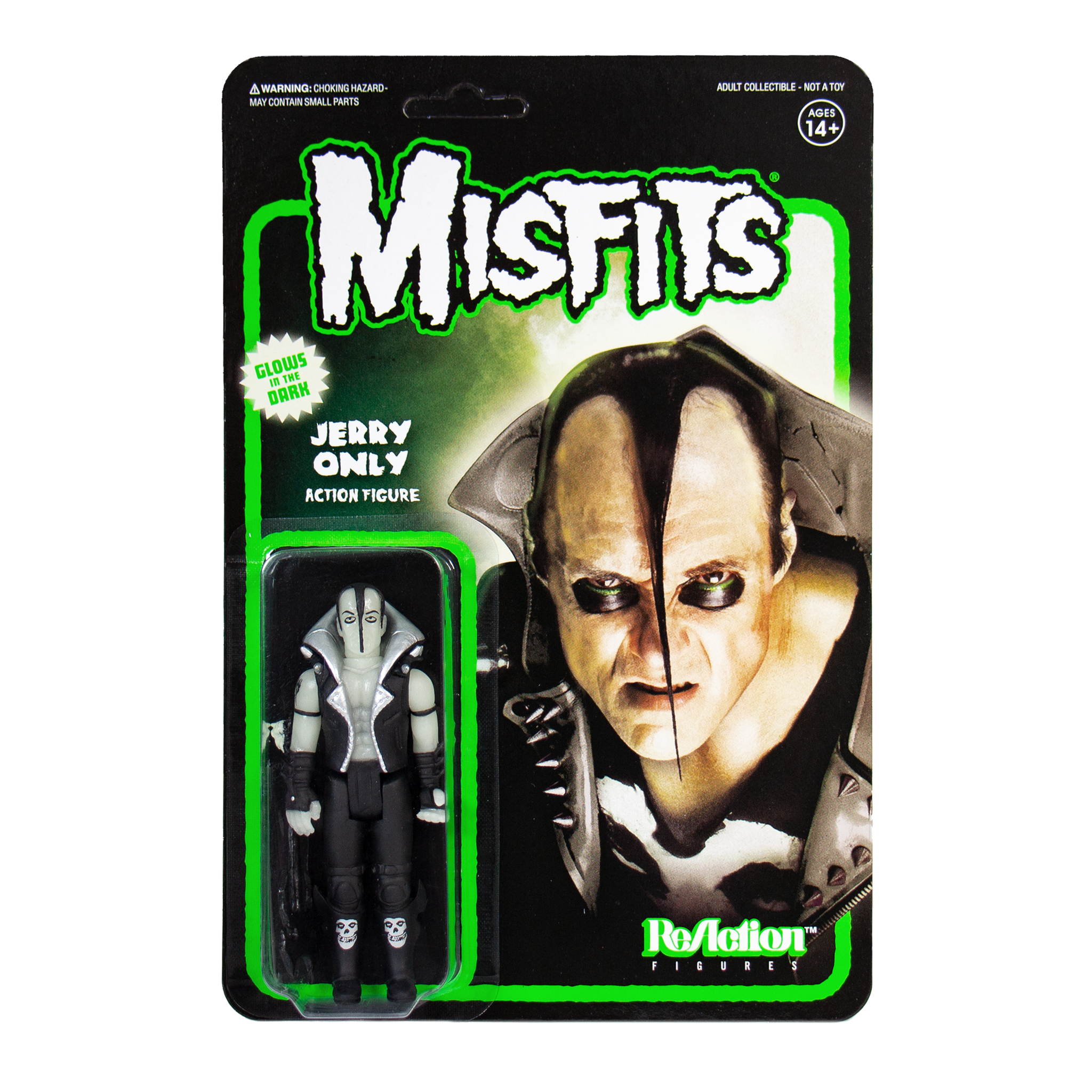 Misfits Reaction Figure Jerry Only Glow in The Dark Rock Band Plastic 7F84zl1
