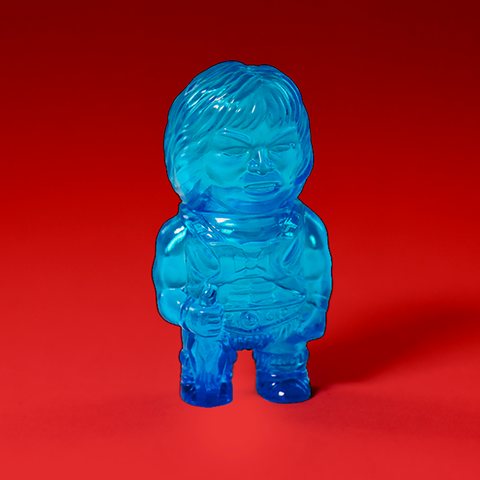 Masters of The Universe Micro Vinyl- He-man (Clear Blue)