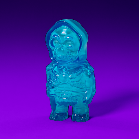 Masters of The Universe Micro Vinyl- Skeletor (Clear Blue)