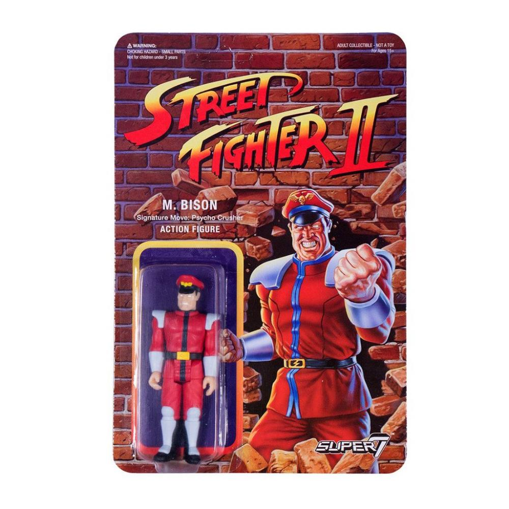 ReAction Street Fighter II M Bison Action Figure