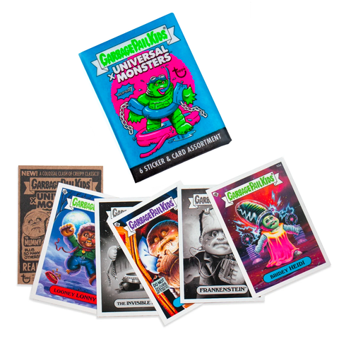 Universal Monsters x GPK Wax Pack (Blue) FLAT