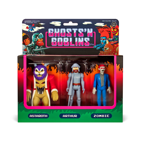Ghosts 'n Goblins ReAction Figures 3-Pack - Pack A (Astaroth, Arthur, Zombie)
