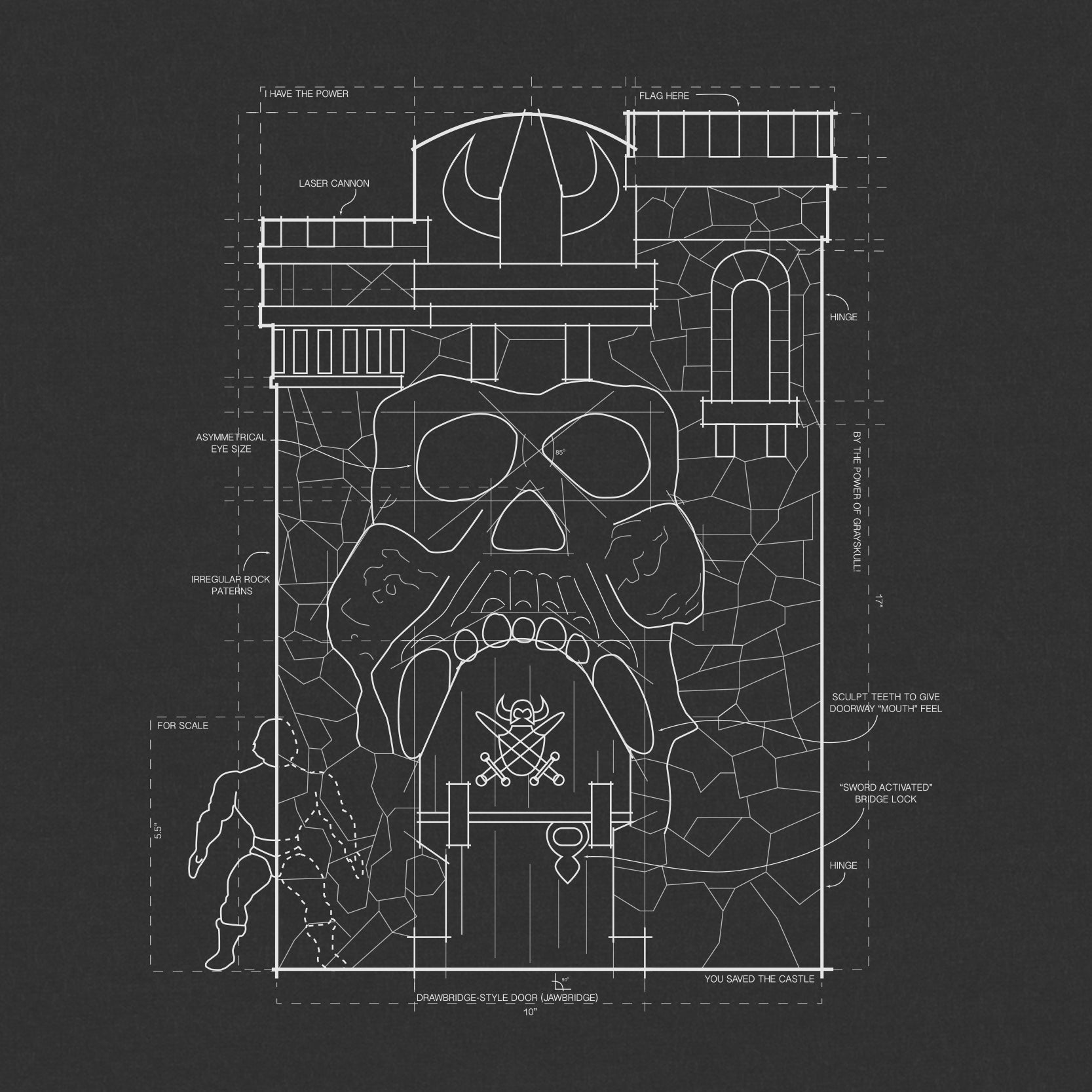 Masters of the universe t shirt grayskull blueprint super7 masters of the universe t shirt grayskull blueprint malvernweather Image collections