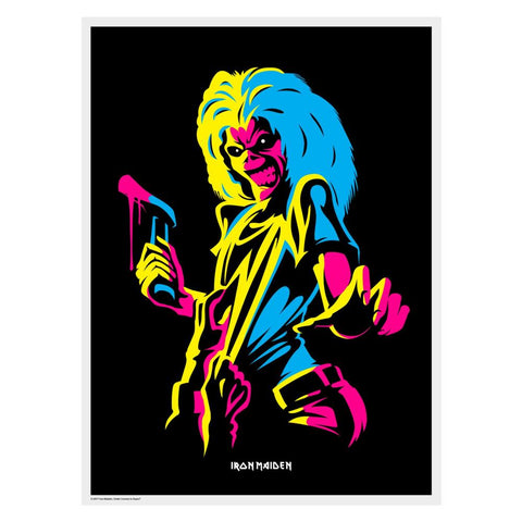 Iron Maiden Print - Killers (Flocked Black Light Poster)