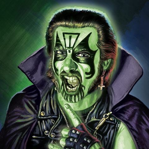 King Diamond ReAction Figure - Glow