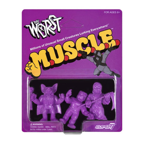 The Worst MUSCLE - Pack B (Batula, Gas Phantom, Robot Reaper) (purple)